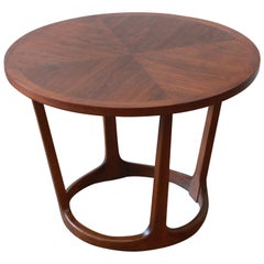 Adrian Pearsall Style Mid-Century Sculpted Walnut Side Table by Lane, 1960s