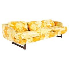 Adrian Pearsall Style Mid Century Walnut Sofa