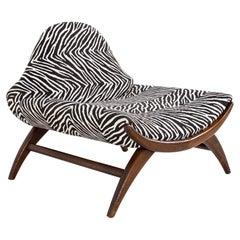 Adrian Pearsall Style Mid Century Zebra Stripe Chair