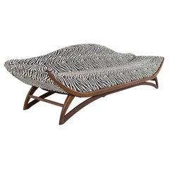 Adrian Pearsall Style Mid Century Zebra Stripe Gondola Sofa