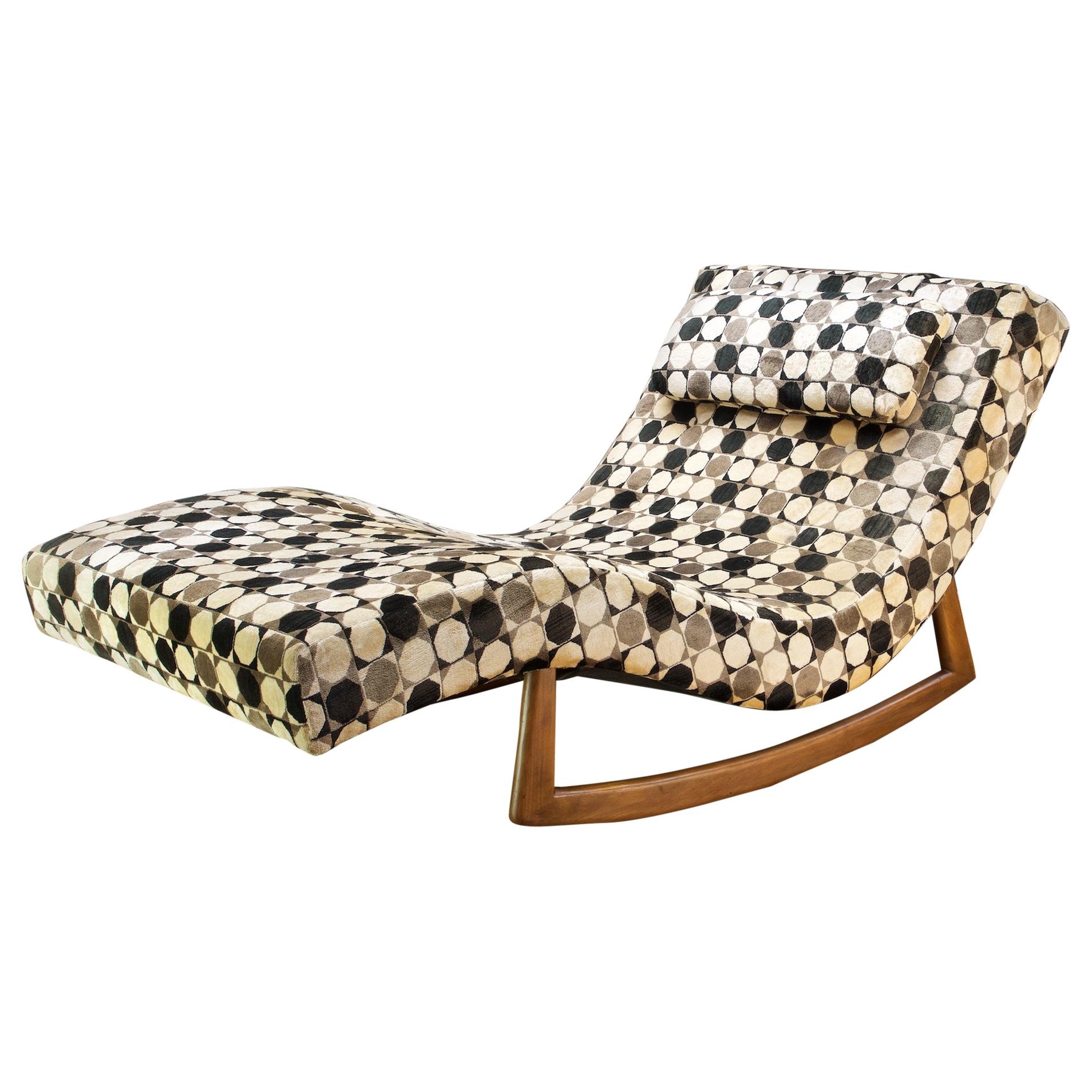 Adrian Pearsall Retro Rocking Chaise Rocker Lounge Chair Daybed For Sale At 1stdibs