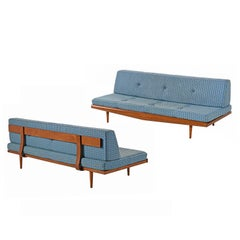 Adrian Pearsall Style Tufted Daybed Sofa Couch, Midcentury Danish Modern