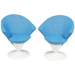 "Adrian Pearsall Swivel ""Cone"" Chairs for Craft Associates"