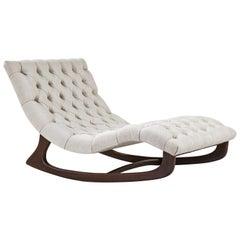 Adrian Pearsall Tufted Chaise Lounge Chair for Craft Associates