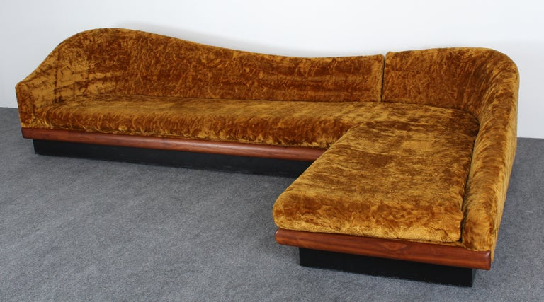 Mid-Century Modern Adrian Pearsall Two-Part Sofa for Craft Associates, 1950s
