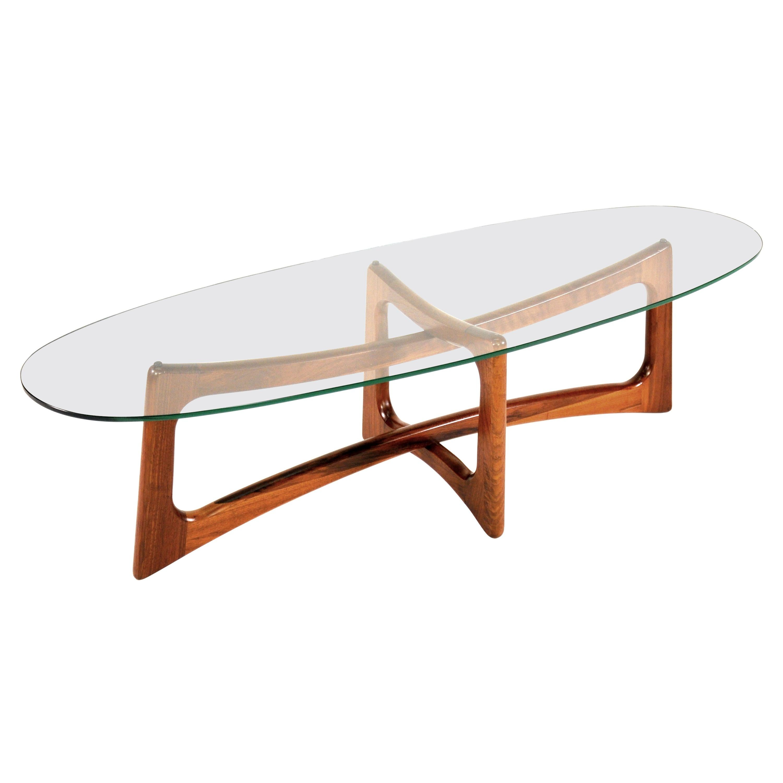 Adrian Pearsall Walnut Coffee Table by Craft Associates, Model 2454-TGO