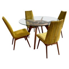Adrian Pearsall Walnut Compass Dining Set