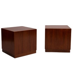 Adrian Pearsall Walnut Cube Tables