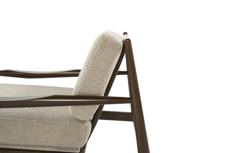 Adrian Pearsall Walnut Lounge Chairs, Model 834-C, circa 1950s For Sale 2