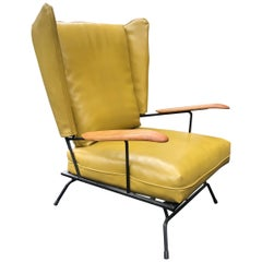 Adrian Pearsall Wing Chair Selrite Iron Frame