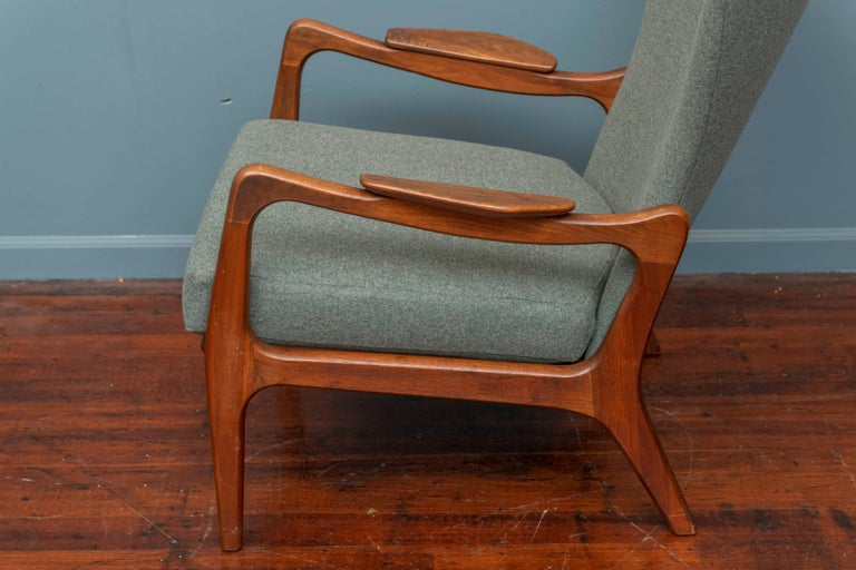 Mid-20th Century Adrian Pearsall Wingback Lounge Chair For Sale