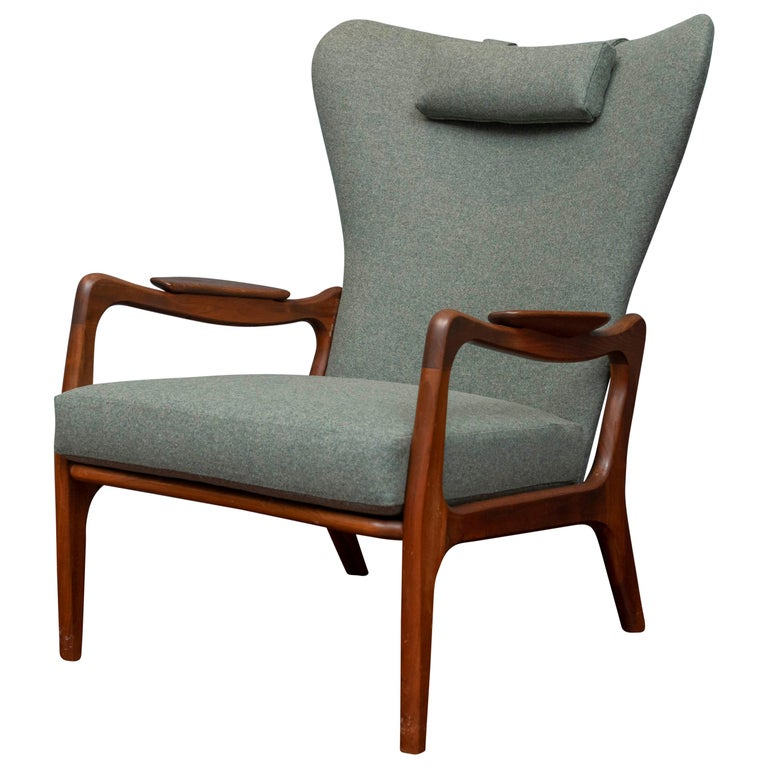Adrian Pearsall Wingback Lounge Chair For Sale