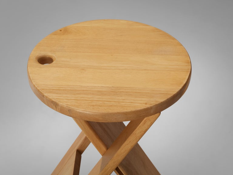 Late 20th Century Adrian Reed Foldable 'Suzy' Stools or Side Table in Beech
