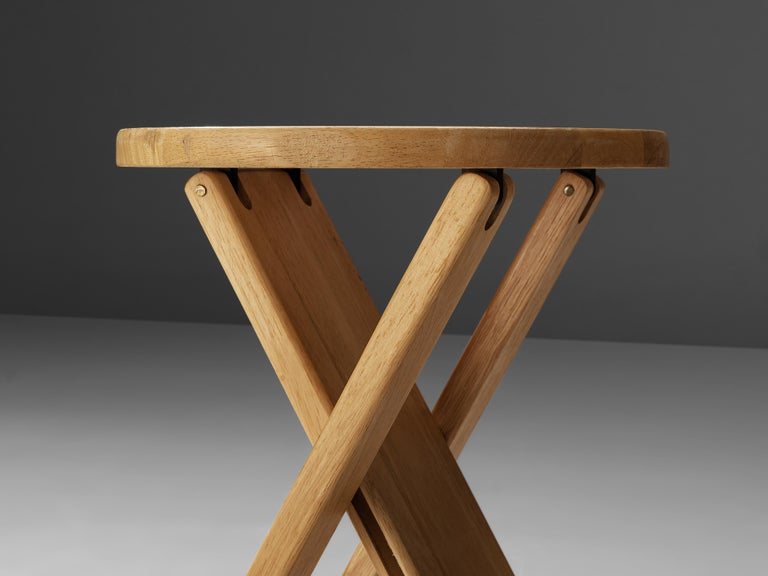 Adrian Reed Foldable 'Suzy' Stools or Side Table in Beech 1