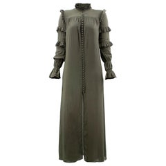 Adriana Degreas green long-sleeved dress XS