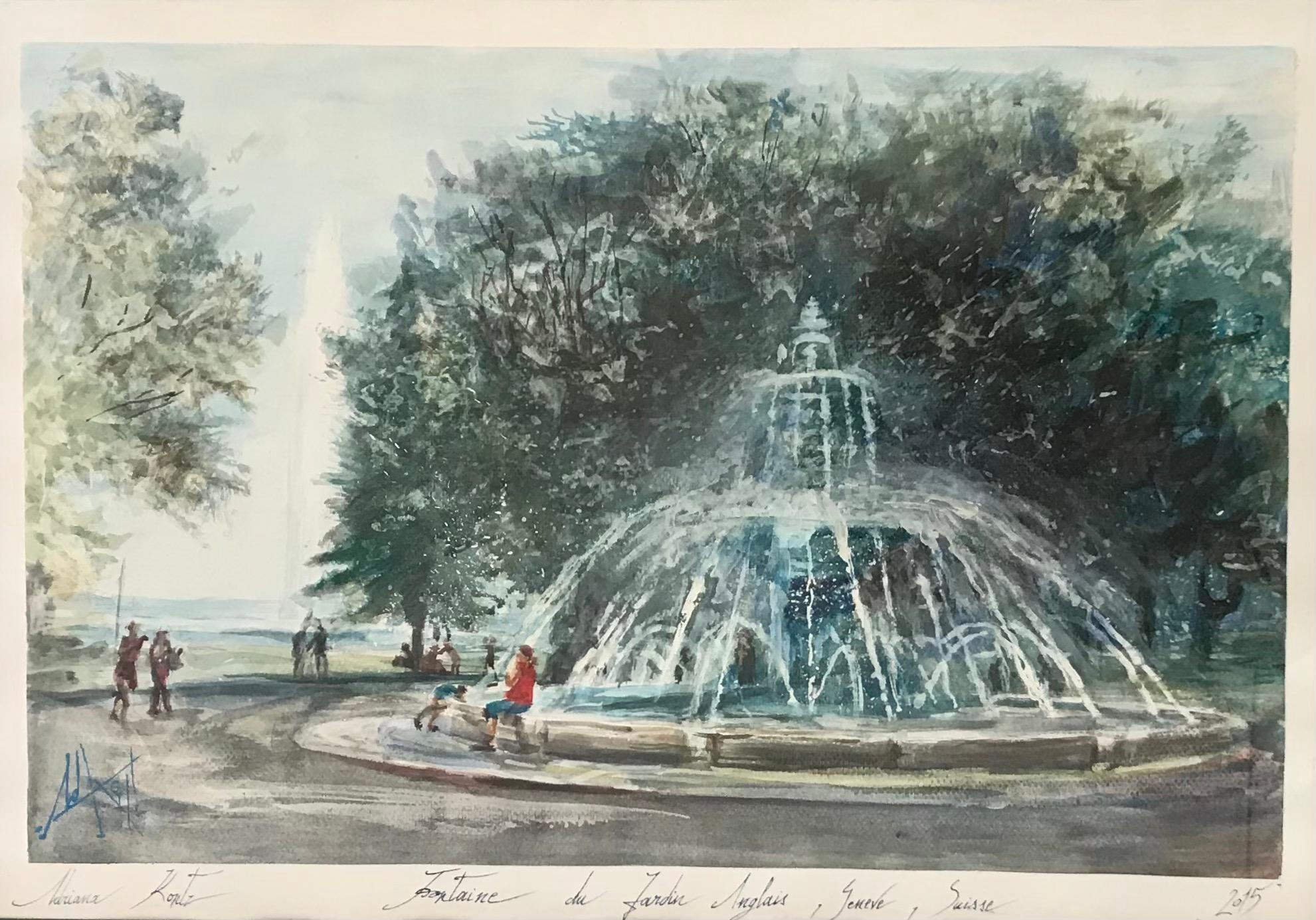Fountain of the English garden, Geneva