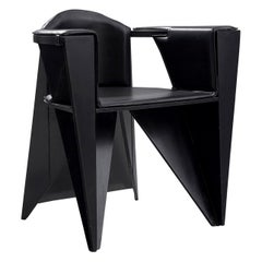 Adriano & Paolo Suman Black Armchair, 1984