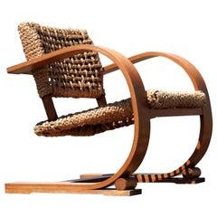 Adrien Audoux & Frida Minet Rope Easy Chair for Vibo, ca. 1940, Paris, France
