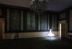 The Dining Room, Mysterious Interior Mansion Space with Illuminated Figure