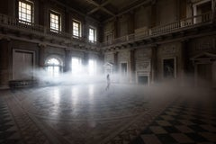 The Marble Hall, Horizontal Photograph of Mysterious Interior with Nude Figure