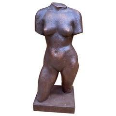 Adrien Dupagne '1889-1980' Africanist Sculpture in Terracotta, circa 1940-1950