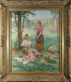 Luncheon on the Grass, French artist, signed and dated by Tanoux