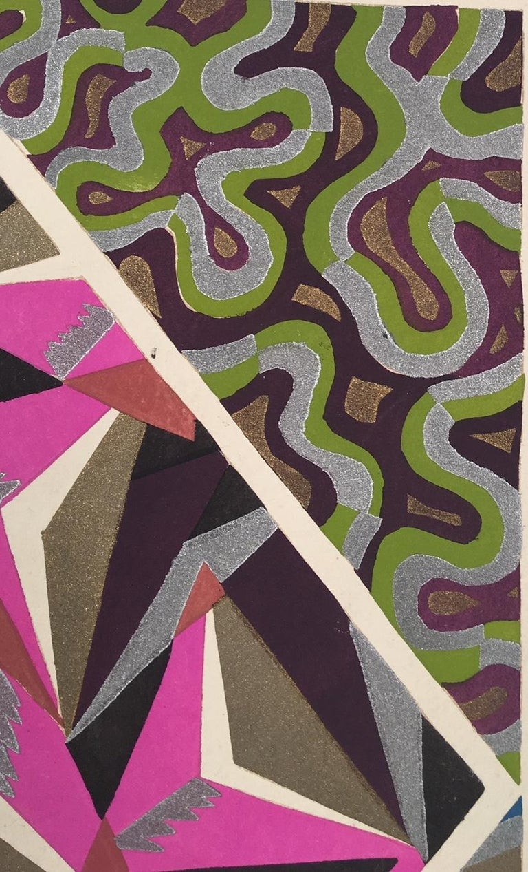 Inspirations, Pate 8 - Brown Abstract Print by Adrien-Jacques Garcelon