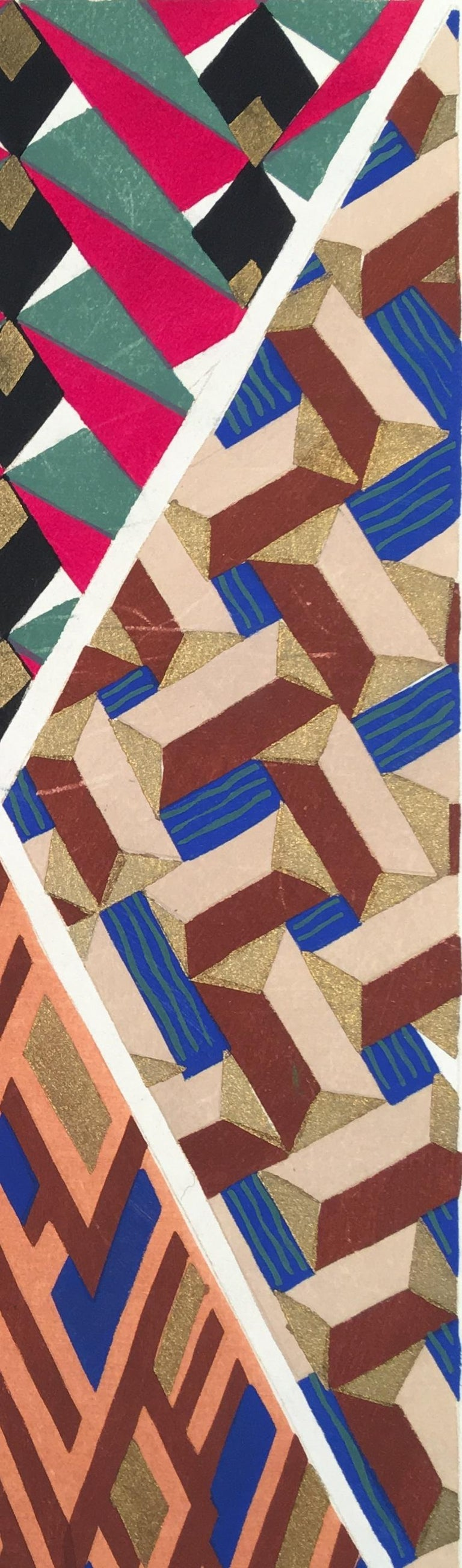 Inspirations Plate17 - Brown Abstract Print by Adrien-Jacques Garcelon