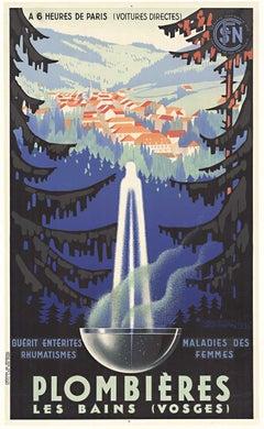 Original vintage poster Plombieres Les Bains (Vosges)