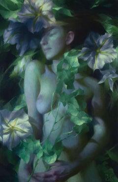 Moonflower, Oil Painting