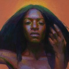 """Nefertiti"", Oil Painting"