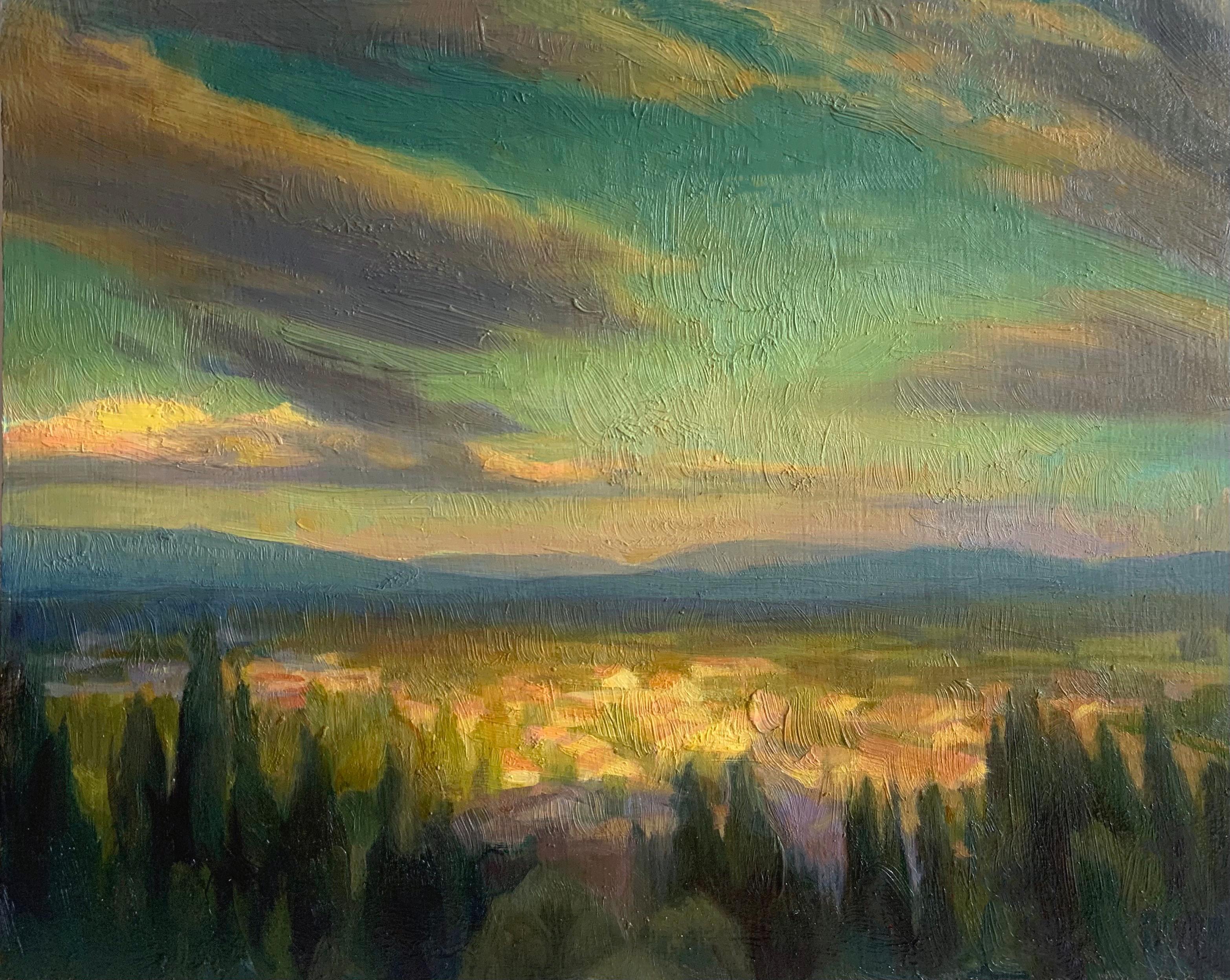"""""""Provençal View"""", Oil Painting"""