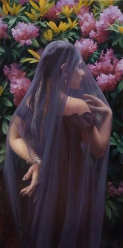 """Violet Bride"", Oil Painting"