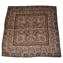 "Adrienne Vittadini Beautifully Elegant ""Winter's Palsey In Golden Brown"" Scarf"