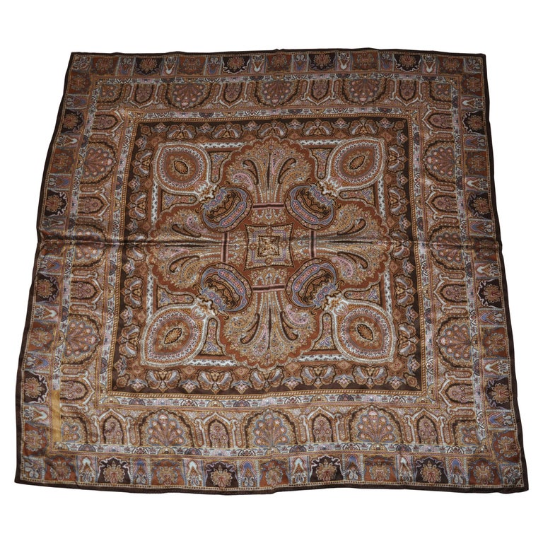 "Adrienne Vittadini Beautifully Elegant ""Winter's Palsey In Golden Brown"" Scarf For Sale"