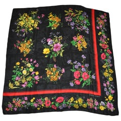 "Adrienne Vittadini Elegant ""Collection of Wild Flowers"" Silk Scarf"