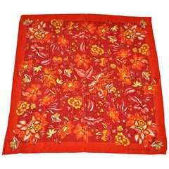 Adrienne Vittadini Wonderfully Glorious Floral Silk Scarf