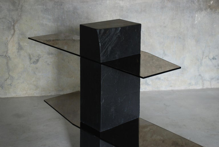 Organic Modern Adroit Sculpted Console Shelf, Sculpted by Frederic Saulou For Sale
