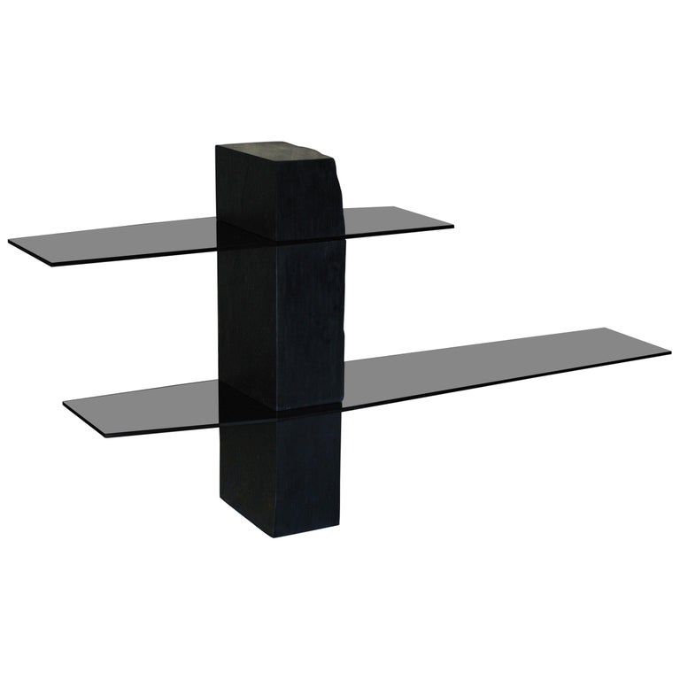 Adroit Sculpted Console Shelf, Sculpted by Frederic Saulou For Sale