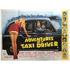"""Adventures Of A Taxi Driver"" 1976 Poster"