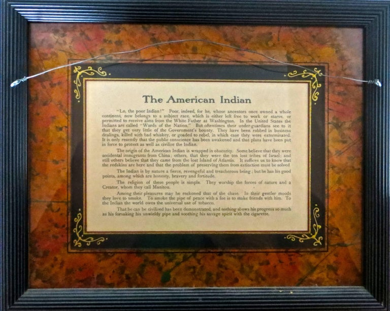 Advertising For Quot Piedmont Cigarettes Quot American Indian