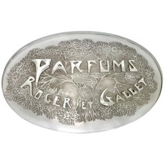 "Advertising Plate ""Roger et Gallet Perfumes"""