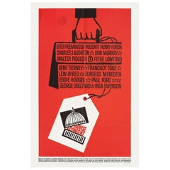 """Advise & Consent"" 1962 U.S. One Sheet Film Poster"