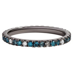 Aegean Blue Ring, Mixed Color Eternity Band