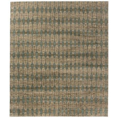 Modern Aegean Green Hand-knotted Wool Rug by Bunny Williams