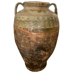 Aegean Sea 18th Century Green Glazed Earthenware Jar