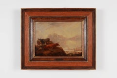 "Aelbert Cuyp ""Cows and Sheep"" Oil Painting on Wood"