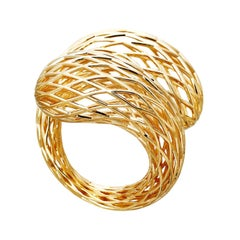 AENEA 18k Yellow Gold Net Ring