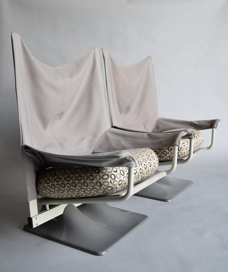 Metal Pair AEO Armchairs by Paolo Deganello of Archizoom Associates for Cassina, Italy For Sale