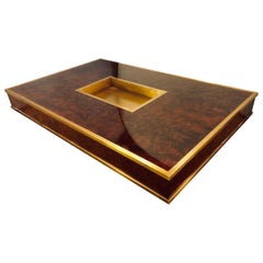 Aerin Lauder Chatham Coffee Table  Walnut Burl and Satin Brass